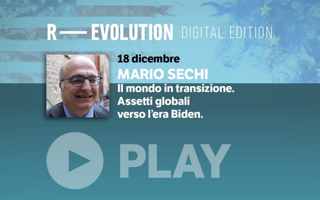R-EVOLUTION 2020 DIGITAL EDITION: MARIO SECHI. VENERDI' 18 DICEMBRE, ORE 18.00