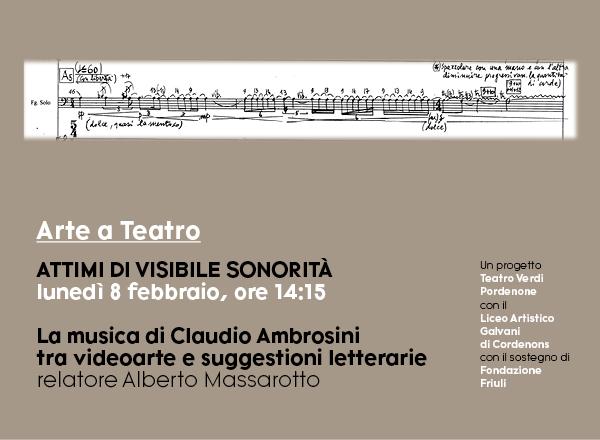 """""""Arte a Teatro"""" al Verdi di Pordenone: proseguono gli incontri streaming con gli studenti del Galvani"""