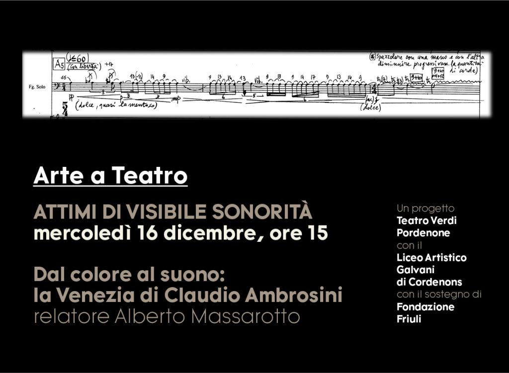 """Il Teatro Verdi di Pordenone incontra gli studenti del Galvani per il primo appuntamento live streaming di """"Arte a Teatro"""""""