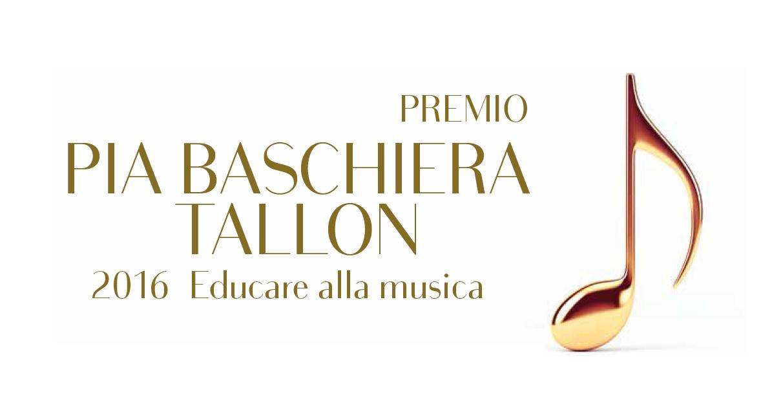 PREMIO PIA BASCHIERA TALLON 2016<br>A QUIRINIO PRINCIPE